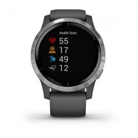 Картинка Часы Garmin VIVOACTIVE 4 серые с серебристым безелем