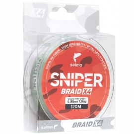 Картинка Леска плетёная Salmo Sniper BRAID Army Green 91м