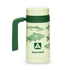 Картинка Термос-кружка АРКТИКА 412 с ручкой 500мл рыбы