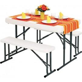 Картинка Набор мебели B113: стол складной и 2 складные скамьи
