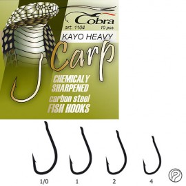 Картинка Крючки Cobra CARP KAYO HEAVY серия 1104NSB размер 001 10шт.