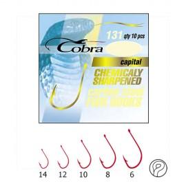 Крючки Cobra CAPITAL серия 131R размер 008 10шт.