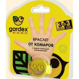 Картинка Браслет Gardex Baby от клещей и комаров со сменным катриджем