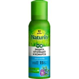 Картинка Аэрозоль Gardex Naturin от комаров и клещей на одежду 100мл (N002)
