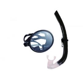 Набор маска, трубка WAVE MS-1332S66 силикон,черный