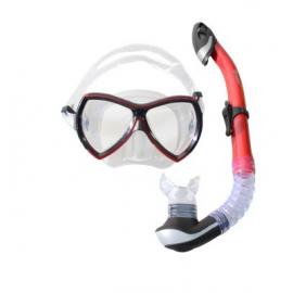 Набор маска, трубка WAVE MS-1380S57 силикон