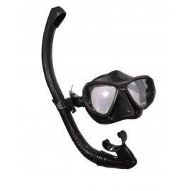 Набор маска, трубка WAVE MS-1383S60 силикон, черный