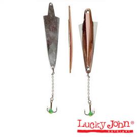 Картинка Блесна вертикальная зимняя Lucky John Wing с цепочкой и тройником 064мм/10.0гр CS блистер