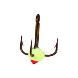 Картинка Крючок-тройник для приманок Lucky John с каплей цвет. разм. 008/F