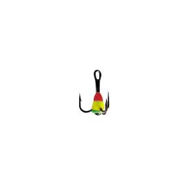 Картинка Крючок-Тройник Для Приманок Lucky John с каплей цвет. разм. 010/RYG