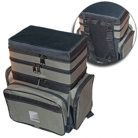 Картинка Ящик-сумка-рюкзак рыболовный зимний пенопластовый 3-х ярусный B-3LUX