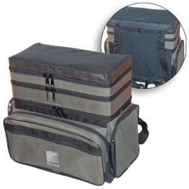 Картинка Ящик-рюкзак рыболовный зимний пенопластовый 3-х ярусный H-3LUX