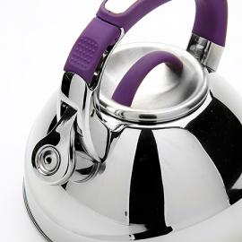 Картинка Чайник мет Mayer&Boch 2,7л со свистком фиолетовая ручка