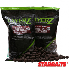 Картинка Бойли тонущие Starbaits Performance Concept LAYERZ Coated Boilie Bloodworm 14мм 0.8кг