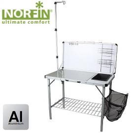 Картинка Стол-кухня складная Norfin FEREN NFL с раковиной