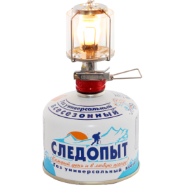 Картинка Светильник портативный газовый Следопыт СВЕТЛЯЧОК стекло