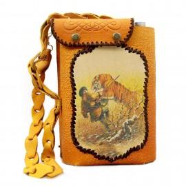 Картинка Фляжка «Охота» 2л в кожаном чехле. Комплект