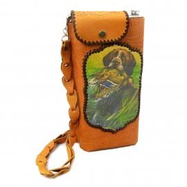 Картинка Фляжка «Охота 4» 2л в кожаном чехле. Комплект