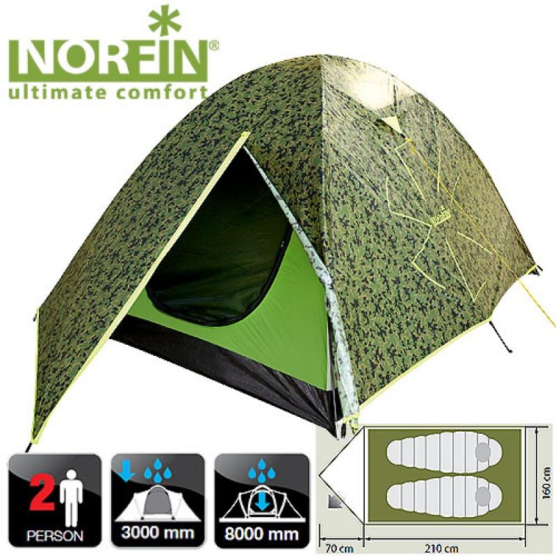 картинка Палатка 2-х местная Norfin COD 2 NC