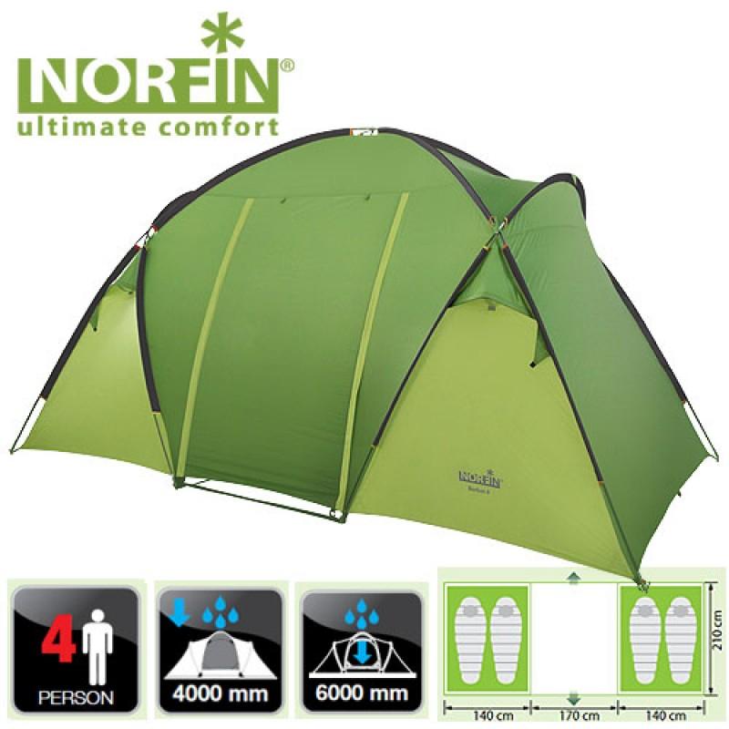 картинка Палатка кемпинговая 4-х местная Norfin BURBOT 4 NF
