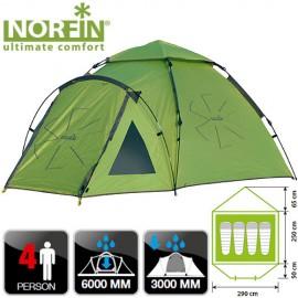 Палатка автоматическая 4-х местная Norfin HAKE 4 NF