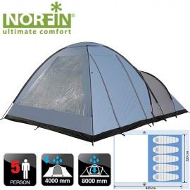 Картинка Палатка кемпинговая 5-ти местная Norfin ALTA 5 NFL