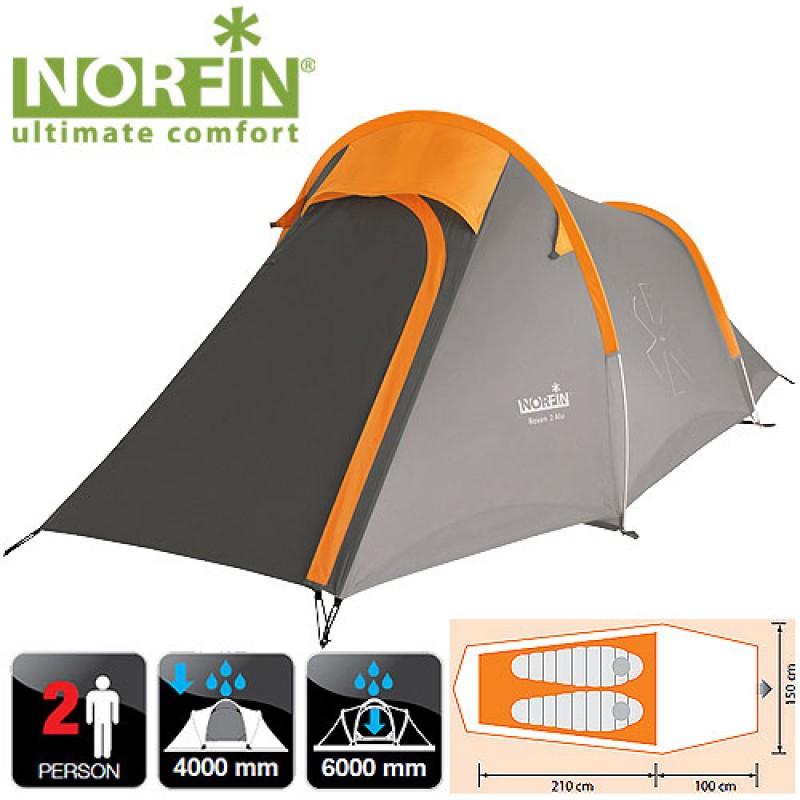 картинка Палатка алюминиевые дуги 2-х местная Norfin ROXEN 2 ALU NS