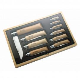 Картинка Набор Opinel в деревянной коробке из 10 ножей разных размеров из нержав стали