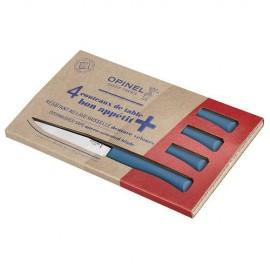 Картинка Набор столовых ножей Opinel, полимерная ручка, нерж, сталь, синий 002198