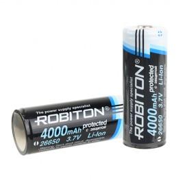Картинка Аккумулятор Robiton Li26650 4000мАч с защитой PK1
