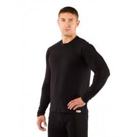 Картинка Футболка мужская Lasting Atar, длинный рукав, шерсть 160, черный