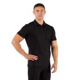 Картинка Поло мужское Lasting DINGO, короткий рукав, шерсть 160, черный