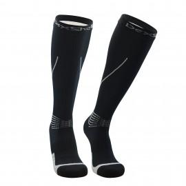 Картинка Водонепроницаемые носки Dexshell Mudder, черные с серыми полосками